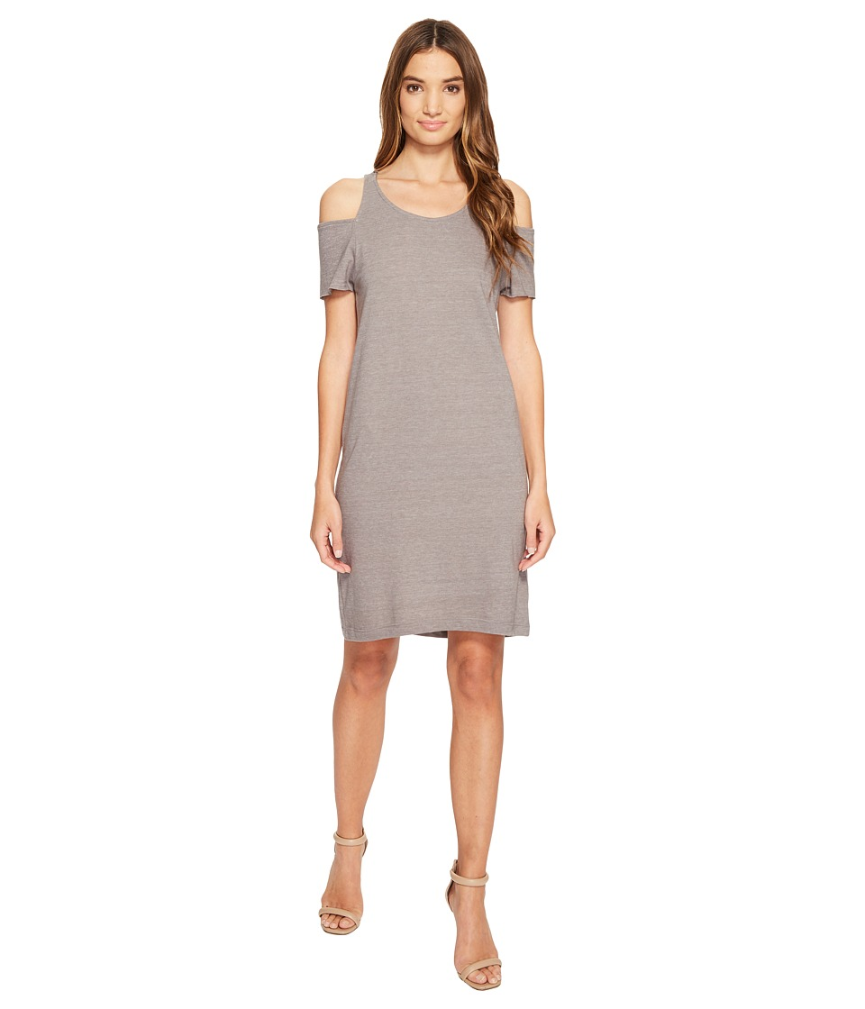 LAmade Zadeth Cold Shoulder Tee Dress (Taupe) Women