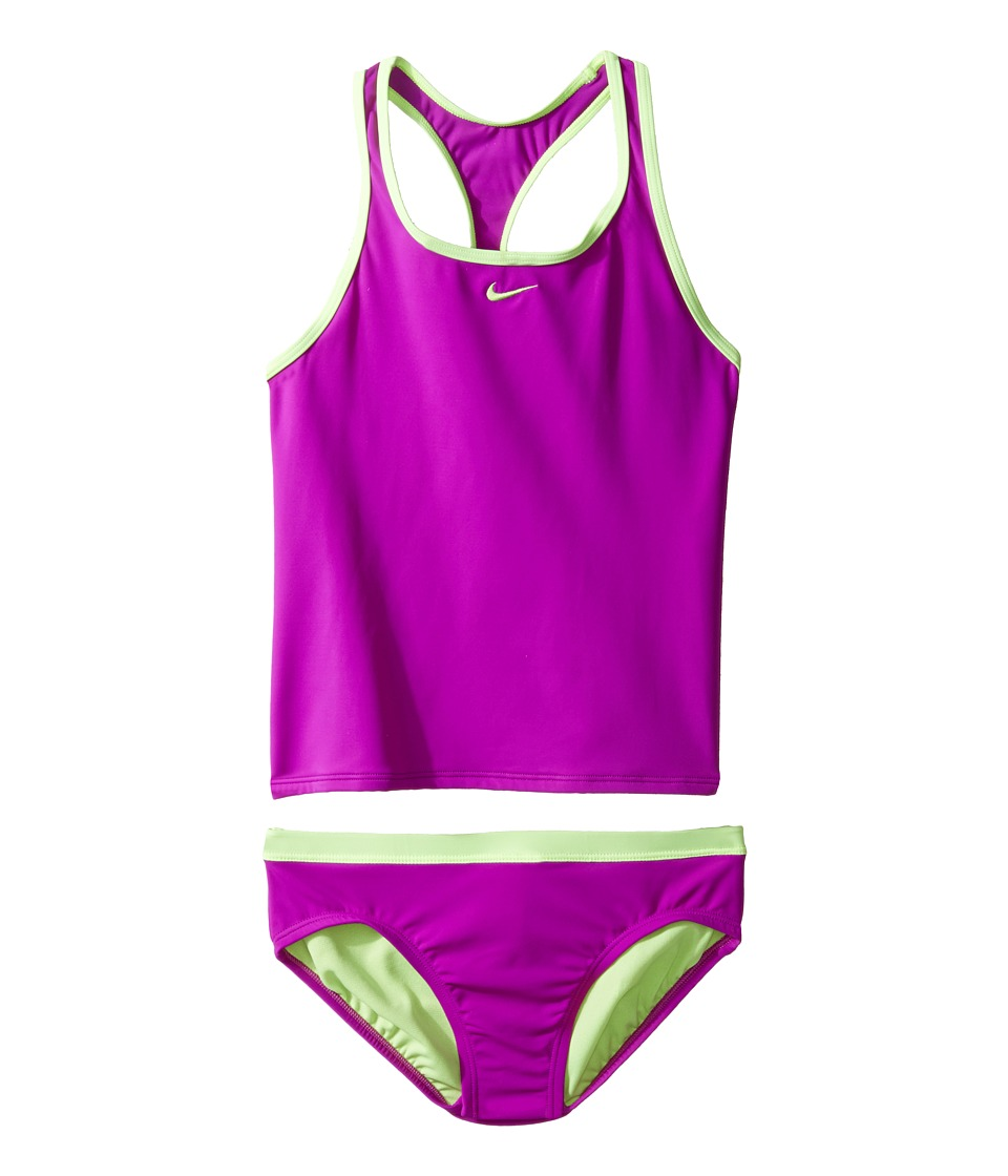 Nike Kids Core Solid Racerback Tankini (Big Kids) (Vivid Purple) Girl