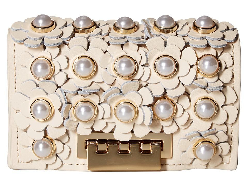 ZAC Zac Posen Earthette Card Case (Ivory) Clutch Handbags