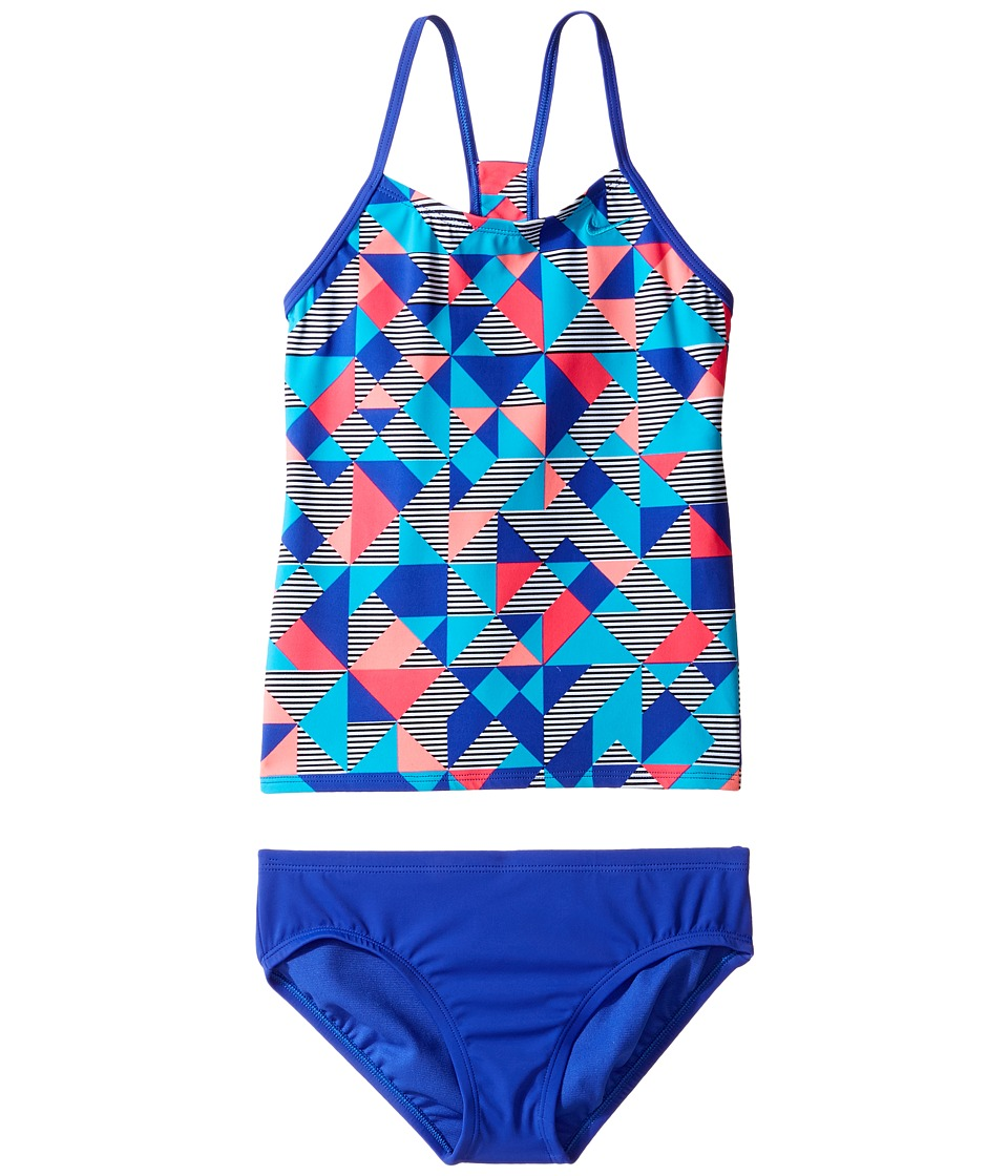 Nike Kids Optic Pop Racerback Tankini (Big Kids) (Paramount Blue) Girl