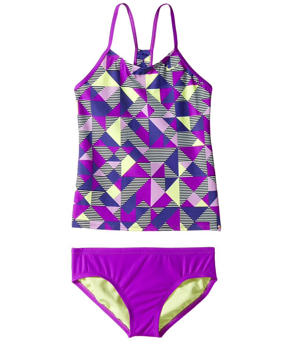 Nike Kids Optic Pop Racerback Tankini (Big Kids) (Vivid Purple) Girl
