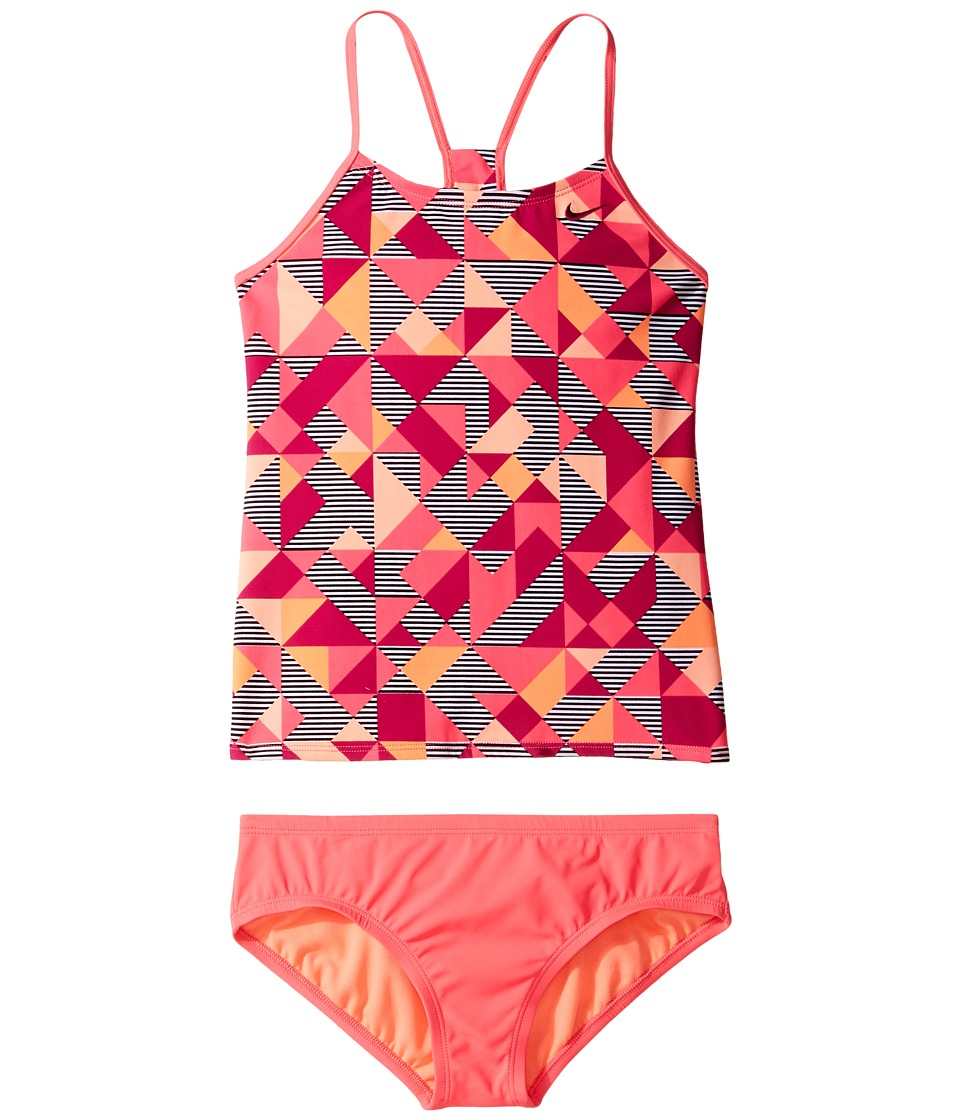 Nike Kids Optic Pop Racerback Tankini (Big Kids) (Sport Fuchsia) Girl