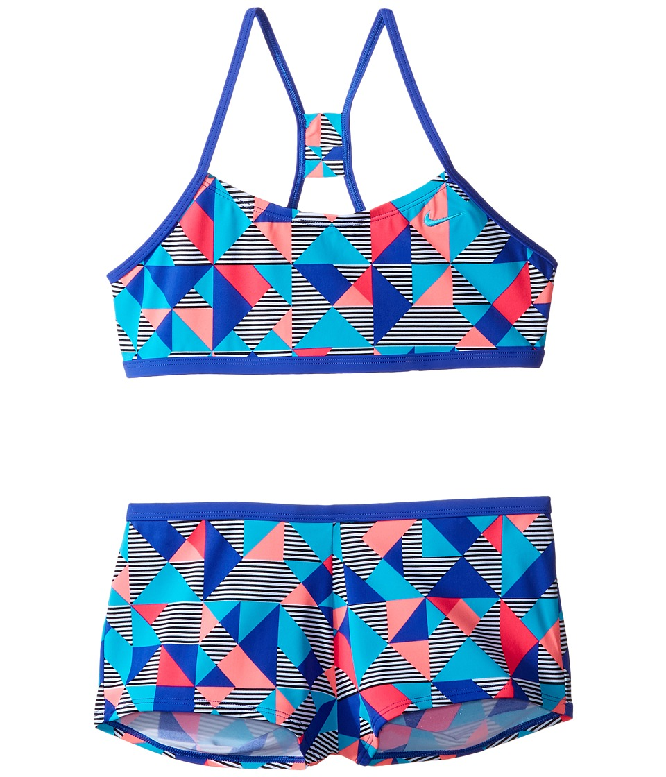 Nike Kids Optic Pop Racerback Bikini (Big Kids) (Paramount Blue) Girl