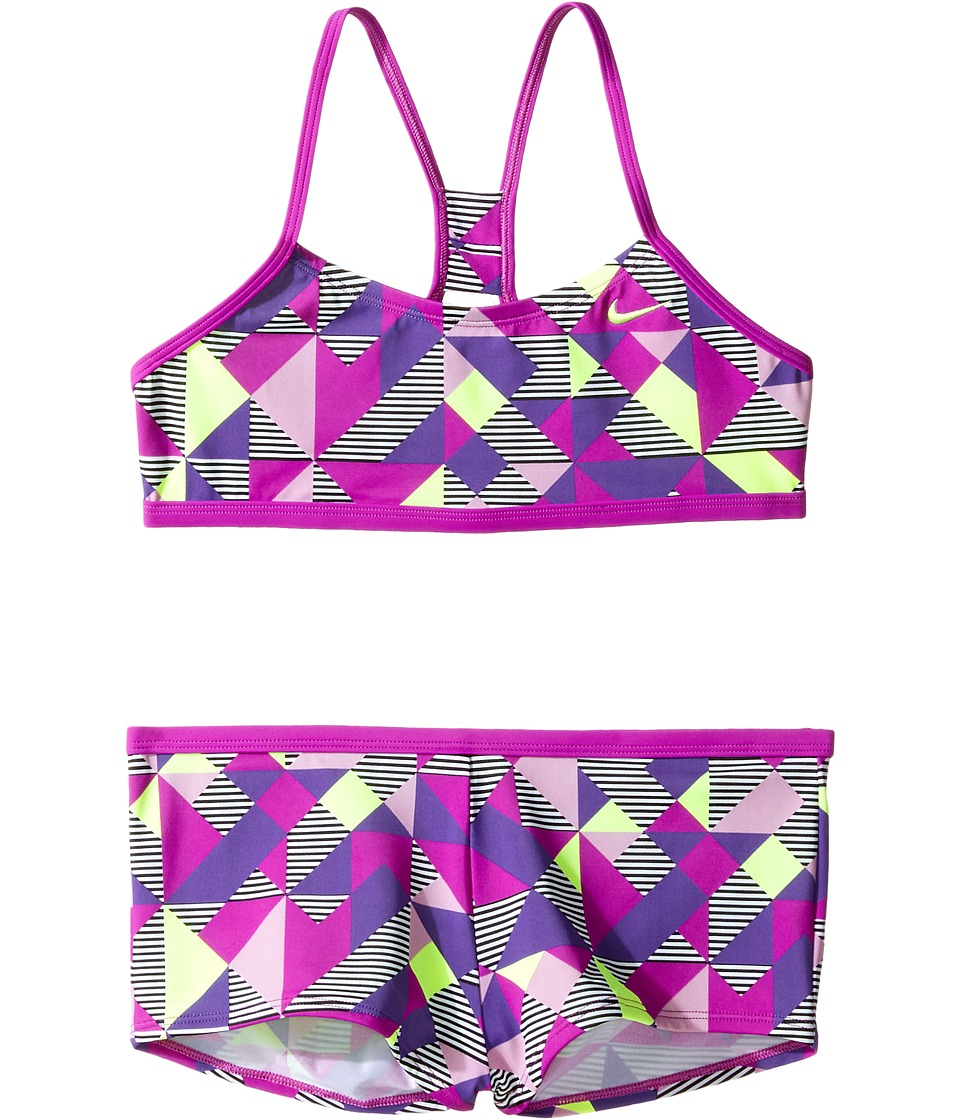 Nike Kids Optic Pop Racerback Bikini (Big Kids) (Vivid Purple) Girl