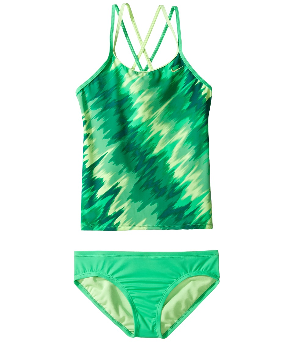 Nike Kids Splash Spiderback Tankini (Big Kids) (Electro Green) Girl