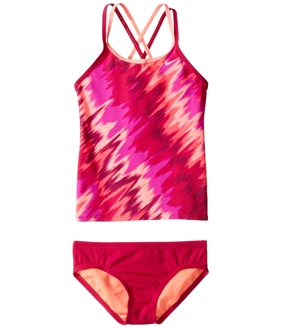 Nike Kids Splash Spiderback Tankini (Big Kids) (Sport Fuchsia) Girl