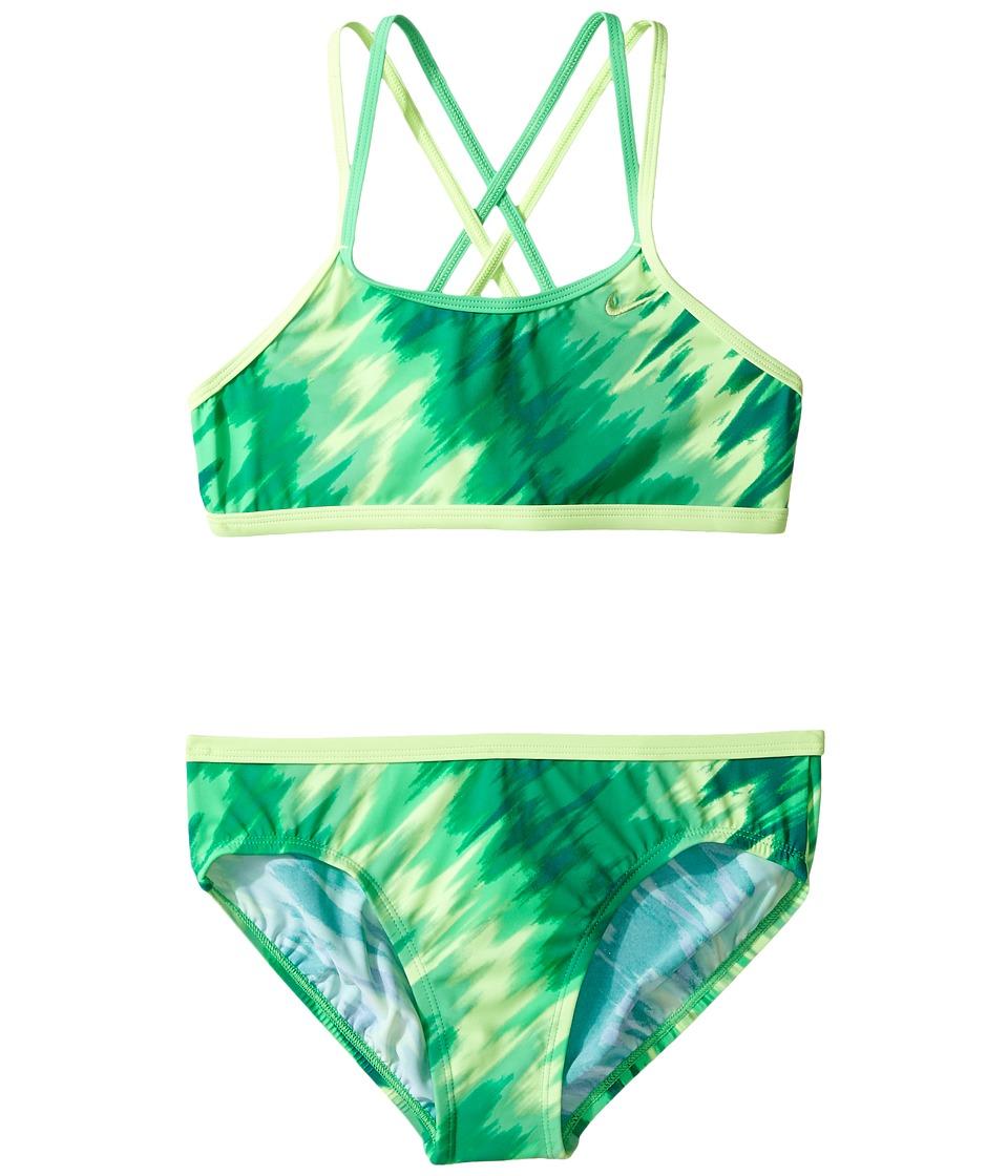 Nike Kids - Splash Spiderback Bikini (Big Kids) (Electro ...