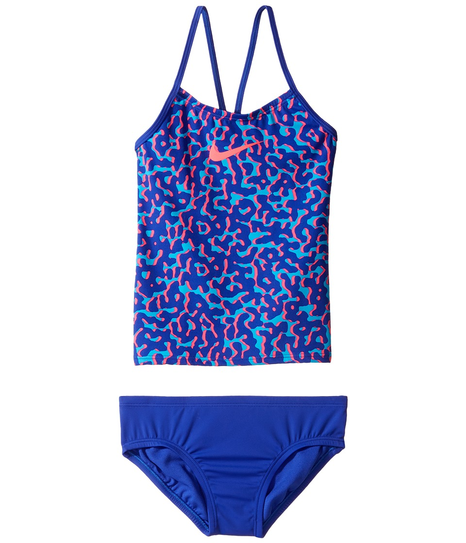 Nike Kids Glow V-Back Tankini (Big Kids) (Paramount Blue) Girl