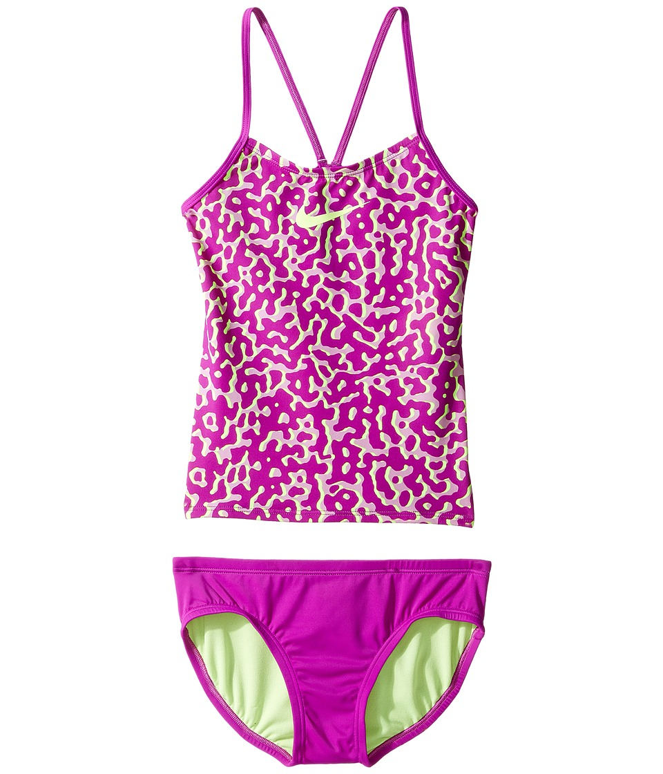 Nike Kids Glow V-Back Tankini (Big Kids) (Vivid Purple) Girl