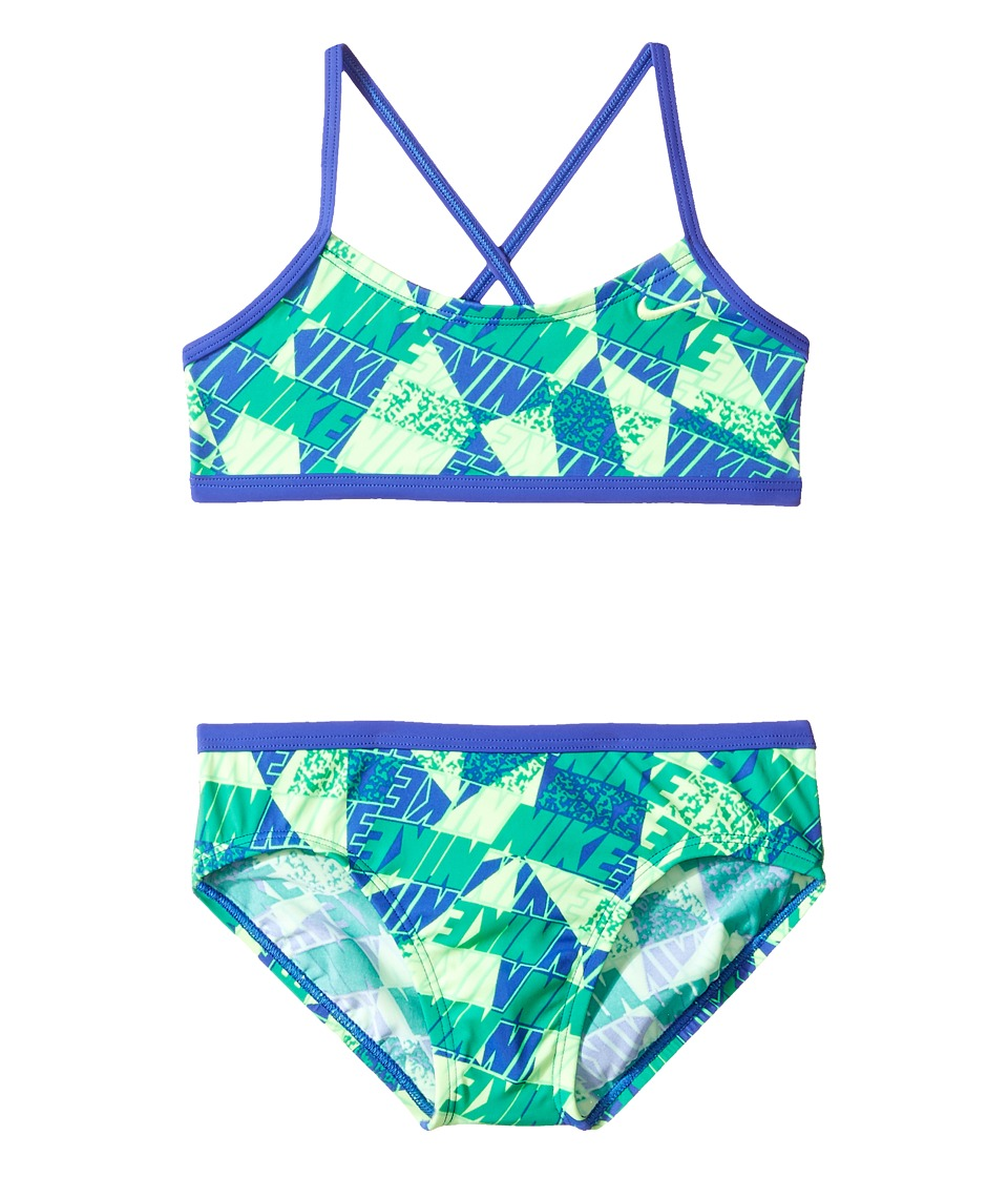 Nike Kids Graphic Crossback Bikini (Big Kids) (Paramount Blue) Girl