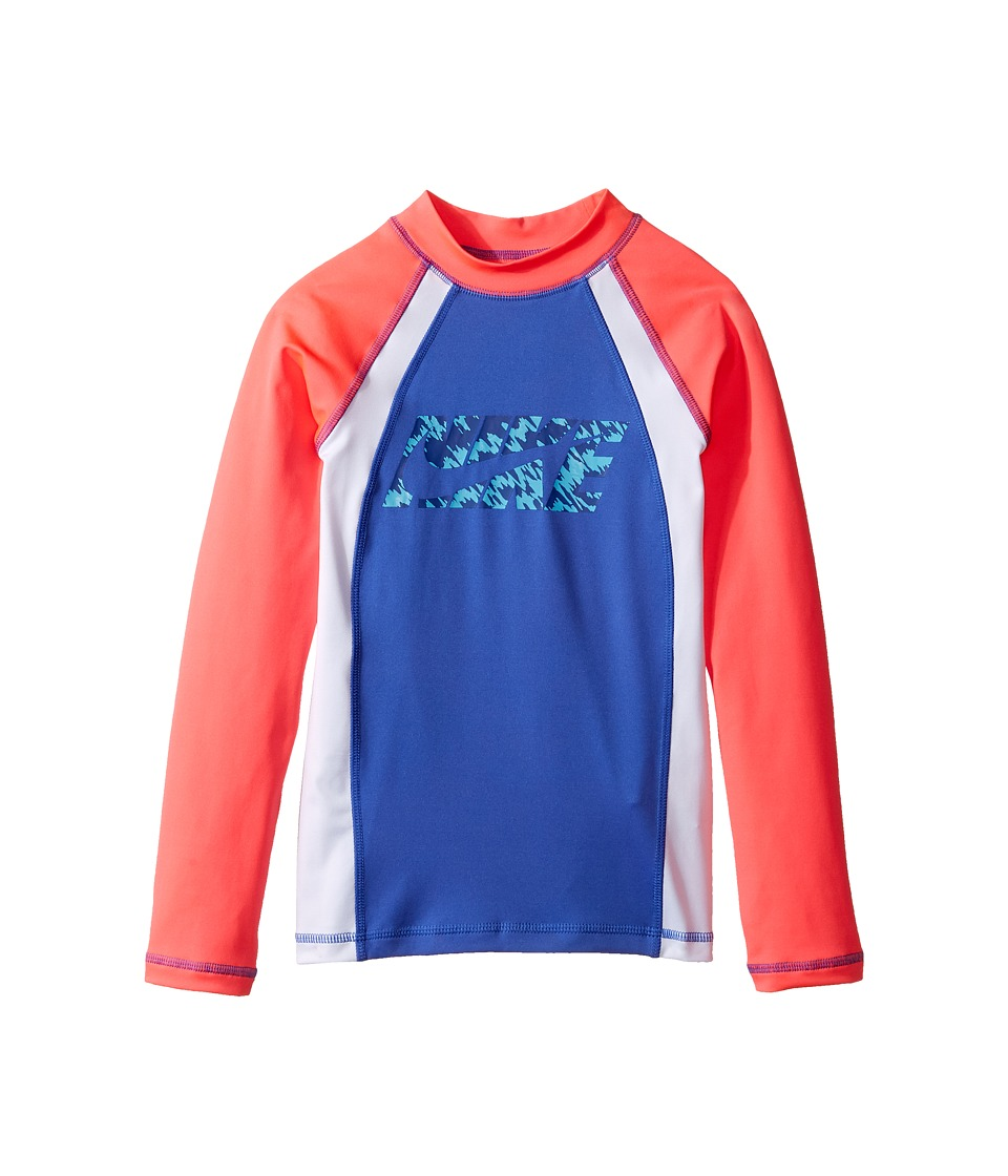 Nike Kids Splash Long Sleeve Hydro Top (Big Kids) (Medium Blue) Girl
