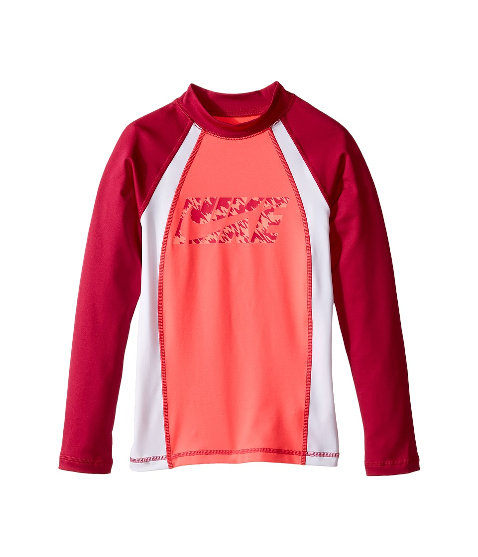 Nike Kids Splash Long Sleeve Hydro Top (Big Kids) (Racer Pink) Girl