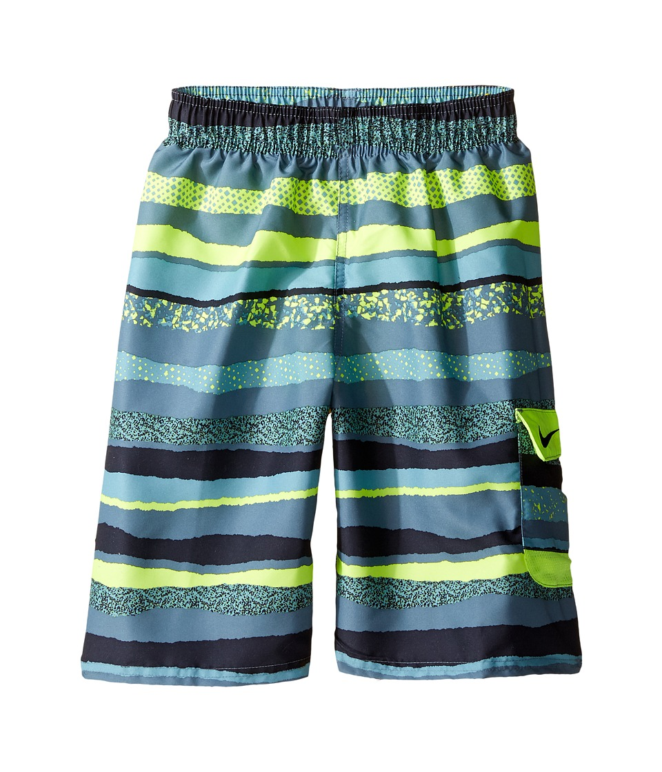 Nike Kids Tide 9 Volley Shorts (Big Kids) (Volt) Boy