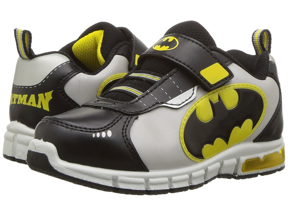 Favorite Characters Batman Lighted Athletic BMS920 (Toddler/Little Kid) (White/Black/Yellow) Boys Shoes