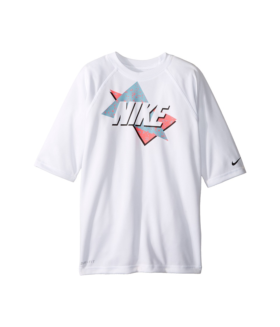 Nike Kids Throwback Short Sleeve UV Top (Big Kids) (White) Boy