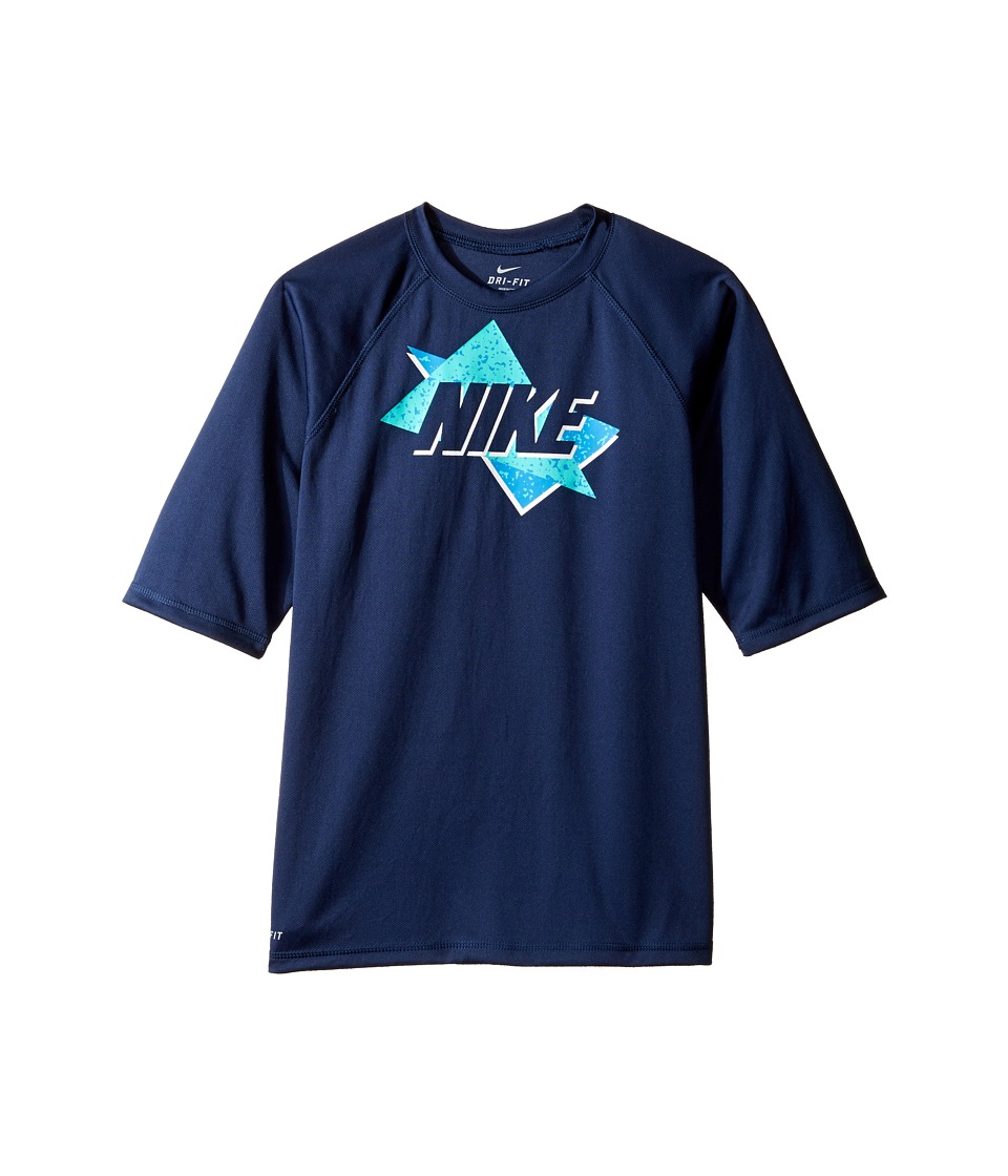 Nike Kids Throwback Short Sleeve UV Top (Big Kids) (Midnight Navy) Boy