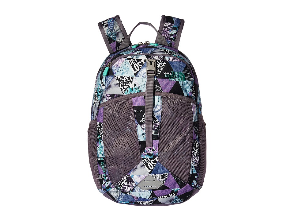 The North Face - Recon Squash (Youth) (Bellflower Purple Tringle Print/Bermuda Green) Backpack Bags