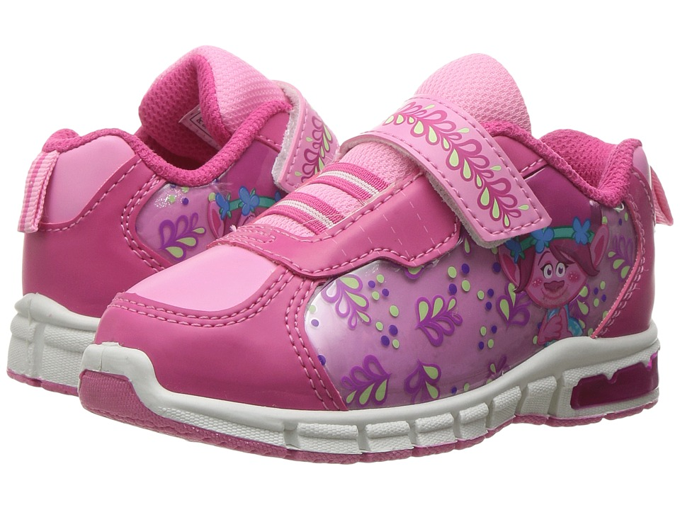 Favorite Characters Trolls Lighted Athletic TLS901 (Toddler/Little Kid) (White/Fuchsia) Girls Shoes
