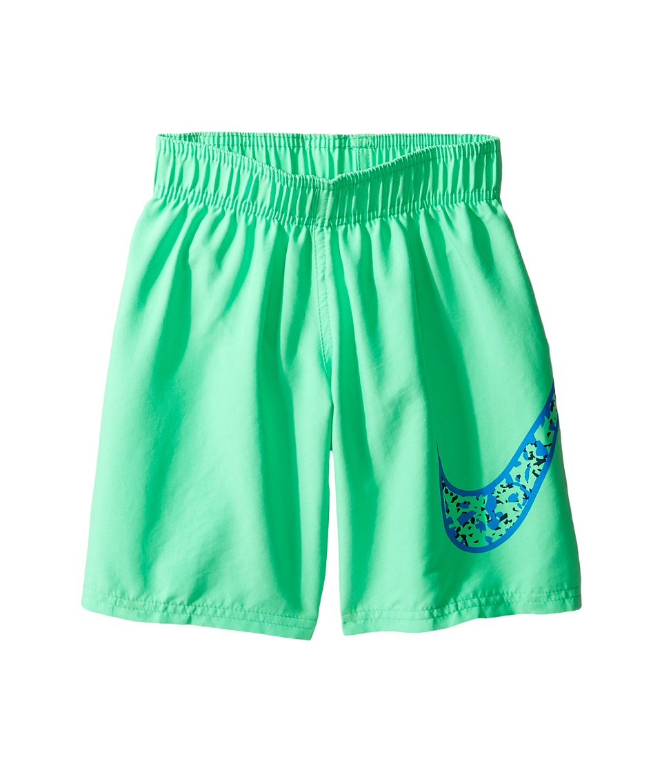 Nike Kids Core Solid Swoosh 7 Volley Short (Little Kids) (Electro Green) Boy