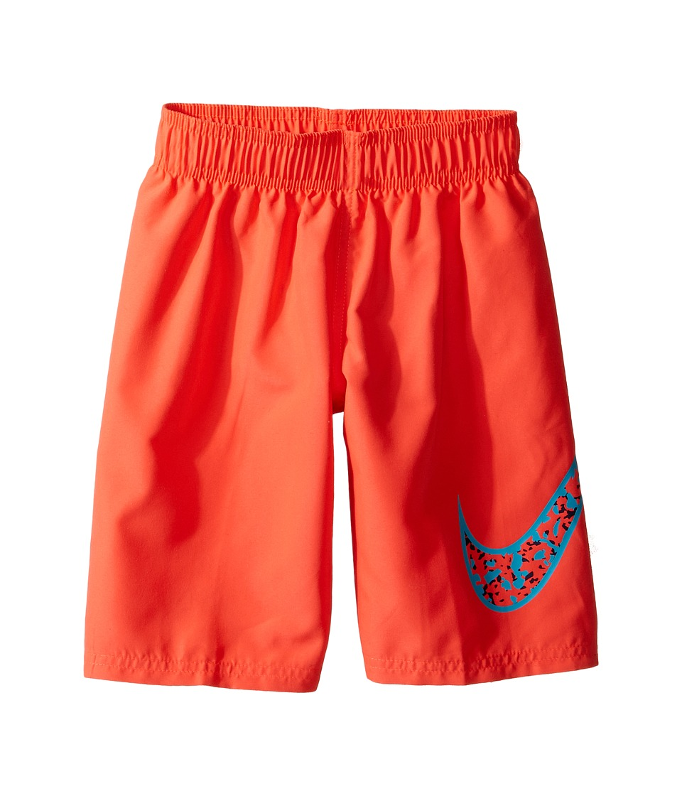 Nike Kids Core Solid Swoosh 7 Volley Short (Little Kids) (Bright Crimson) Boy