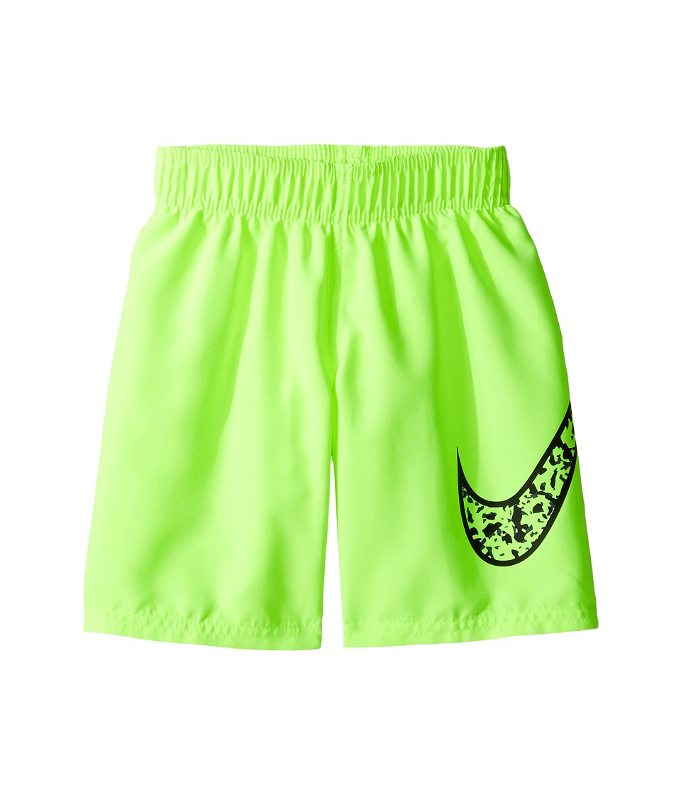 Nike Kids Core Solid Swoosh 7 Volley Short (Little Kids) (Volt) Boy