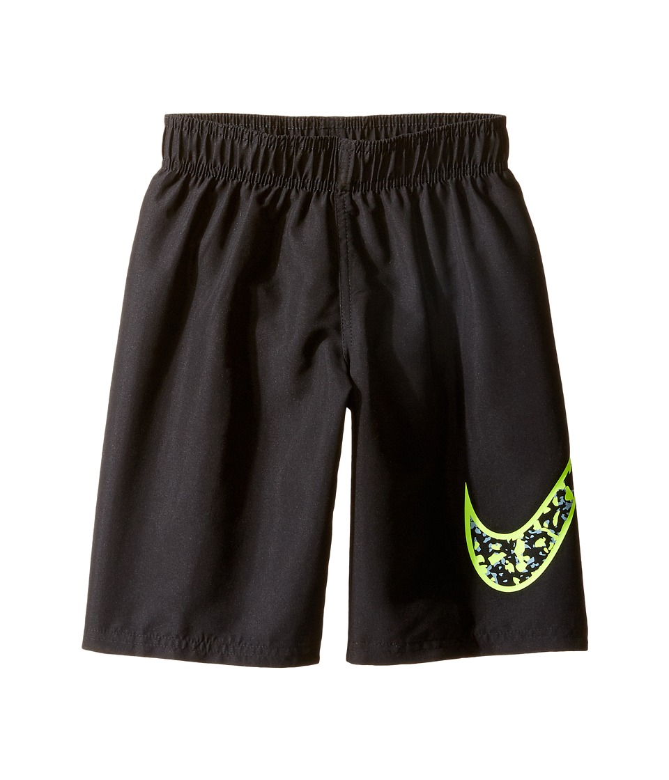 Nike Kids Core Solid Swoosh 7 Volley Short (Little Kids) (Black) Boy