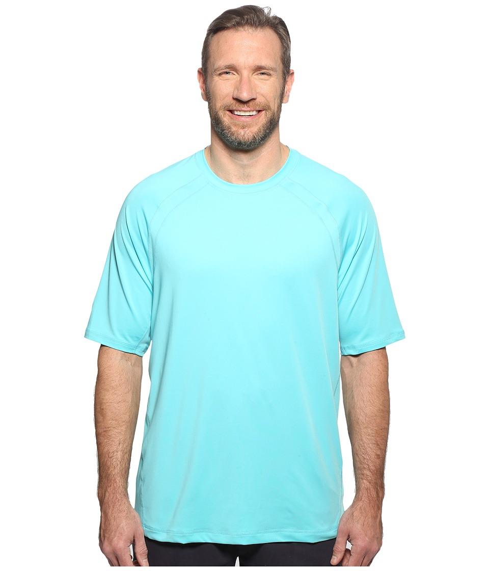 Tommy Bahama Big & Tall Big Tall Surf Chaser Short Sleeve Crew (Blue Radiance) Men