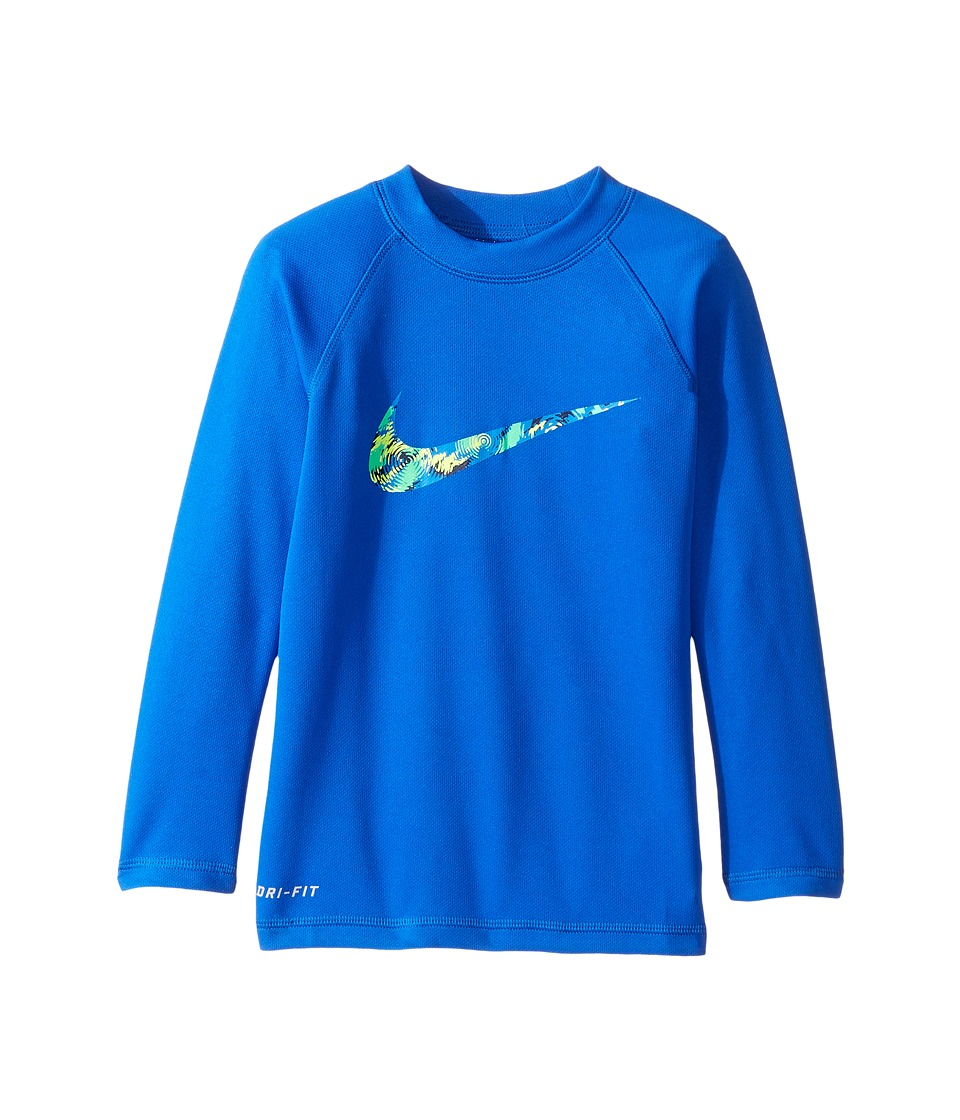 Nike Kids Watercamo Long Sleeve Hydro Top (Little Kids) (Hyper Cobalt) Boy