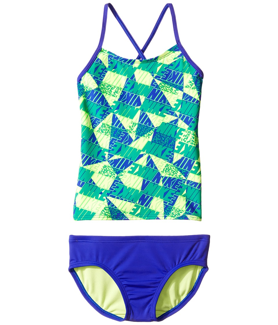 Nike Kids Graphic Crossback Tankini (Big Kids) (Paramount Blue) Girl