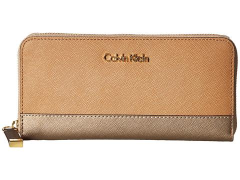 Calvin Klein Saffiano Zip Continental