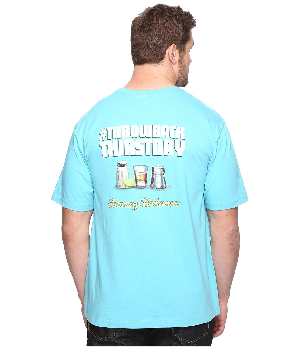 Tommy Bahama Big & Tall Big Tall Throwback Thirstday Tee (Maui Blue) Men