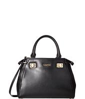 Calvin Klein - Toya Olympia Leather/Saffiano Satchel