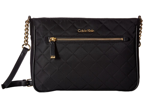 Calvin Klein Florence Quilted Nylon Crossbody - Black Quilt