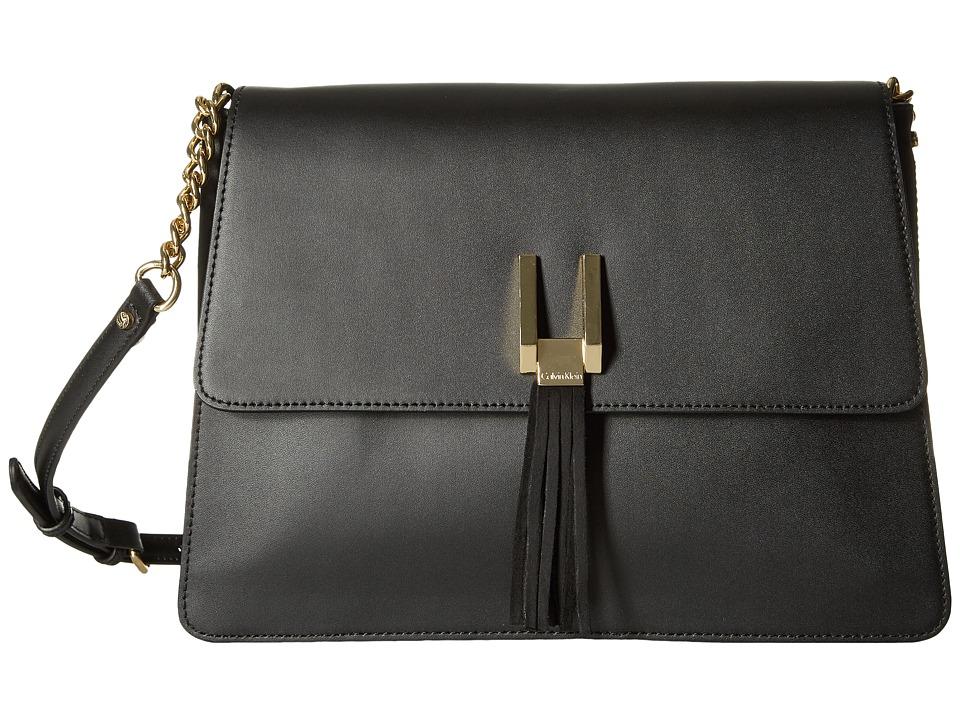 Calvin Klein Rae Serena Messenger (Black/Gold) Messenger Bags