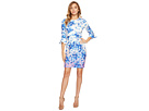 Donna Morgan - 3/4 Sleeve Bell Sleeve Sheath Dress