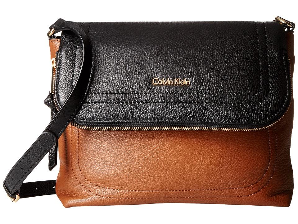 Calvin Klein Classic Pebble Pebble Messenger (Luggage/Black) Messenger Bags