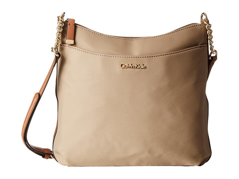 Calvin Klein Florence Nylon Messenger (Light Khaki) Messenger Bags