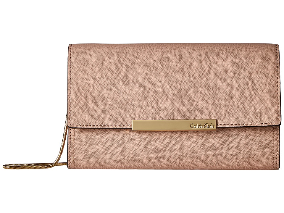 Calvin Klein Evening Saffiano Clutch (Sugarplum) Clutch Handbags