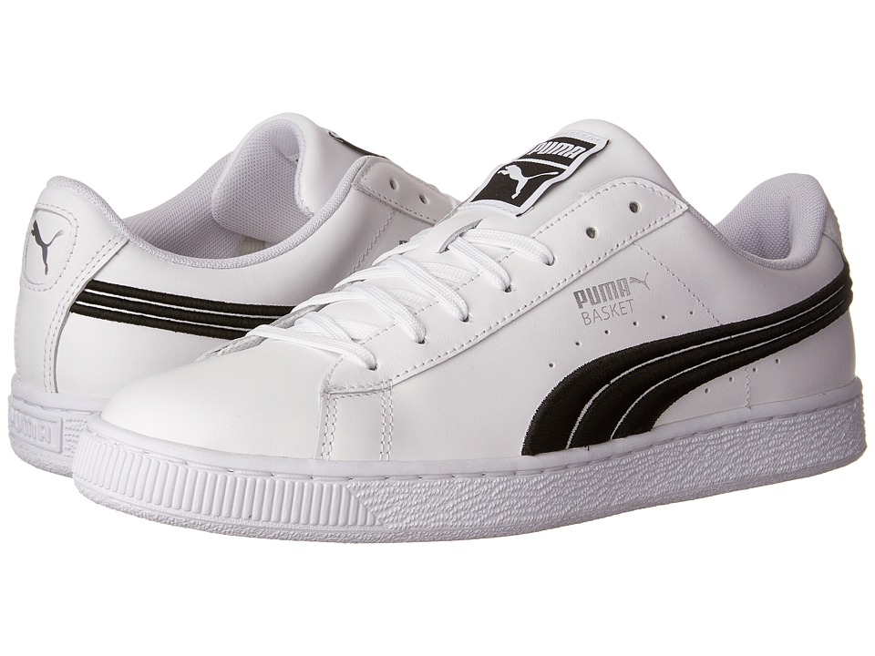 PUMA Basket Classic Badge (Puma White/Puma Black) Men