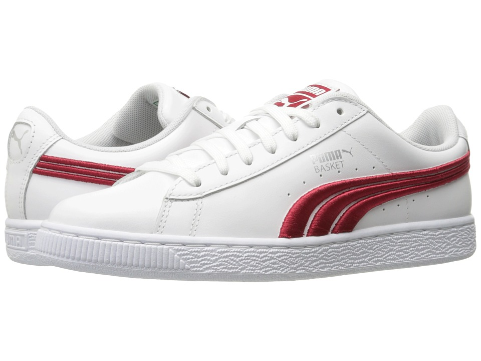 PUMA Basket Classic Badge (PUMA White/Barbados Cherry) Men
