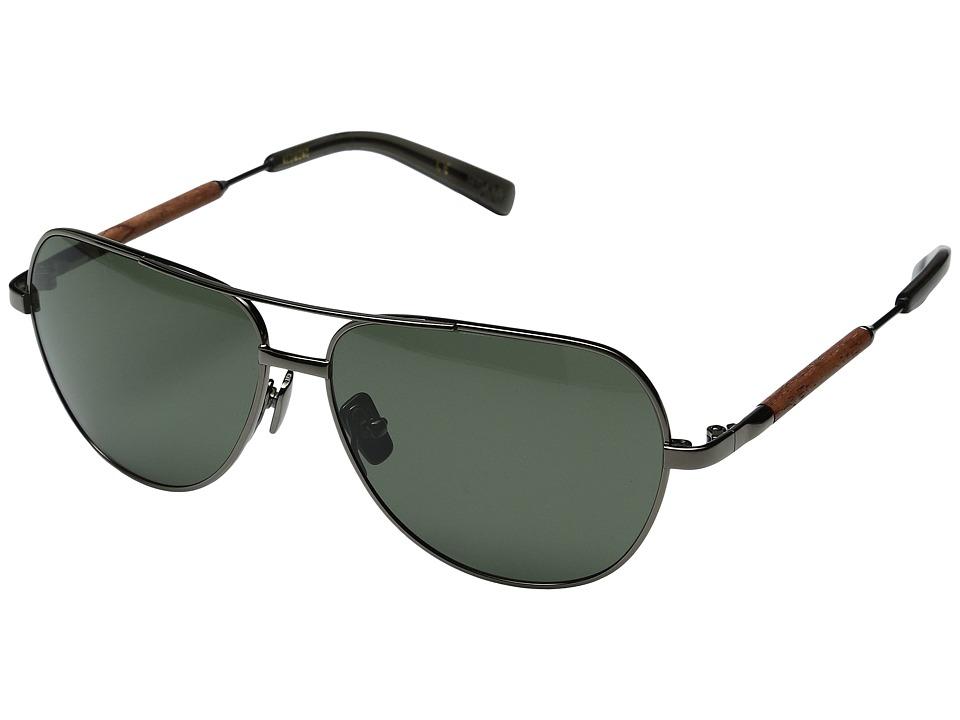 Shwood Redmond (Black Chrome Titanium Mahogany/G15 Polarized) Fashion Sunglasses