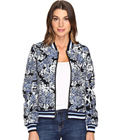 Blank NYC - Floral Bomber Jacket in Most Wanted