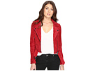 Blank NYC Red Suede Moto Jacket in Red Moon