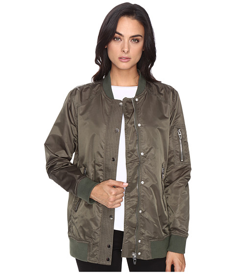 Blank NYC Olive Bomber Jacket in Flexible