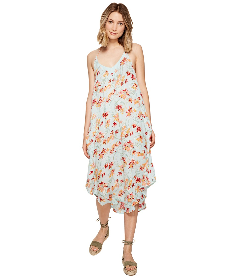 Roxy Kat Fish Dress (Bleached Aqua Franco Floral) Women