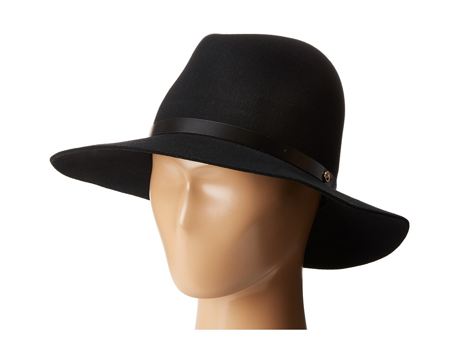 rag & bone - Floppy Brim Fedora (Black) Fedora Hats