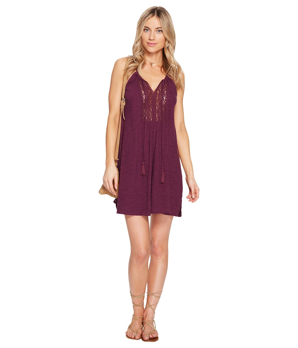 Roxy Black Water Dress (Grape Wine) Women