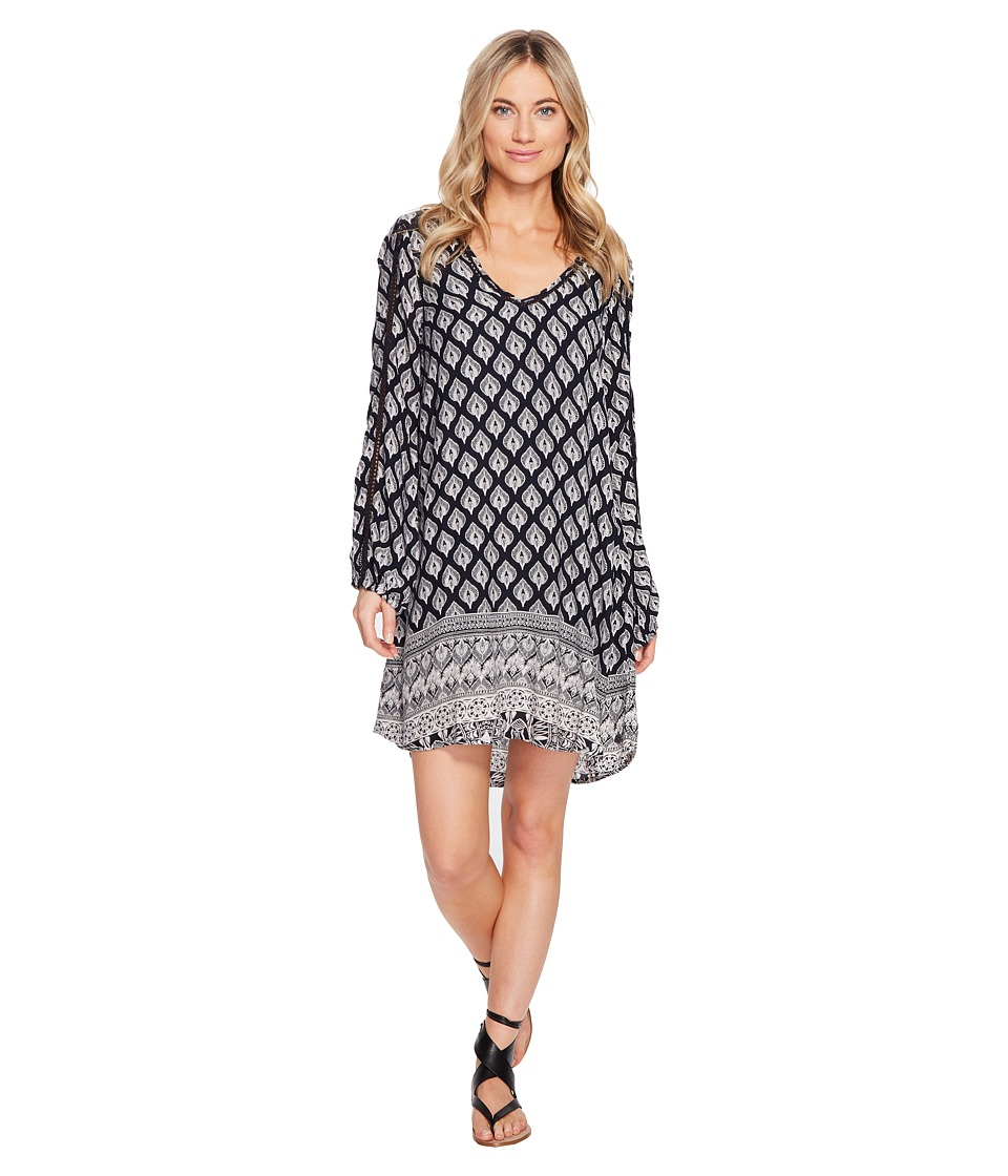 Roxy Havana Dress (Anthracite Hippie Gypsy Border) Women