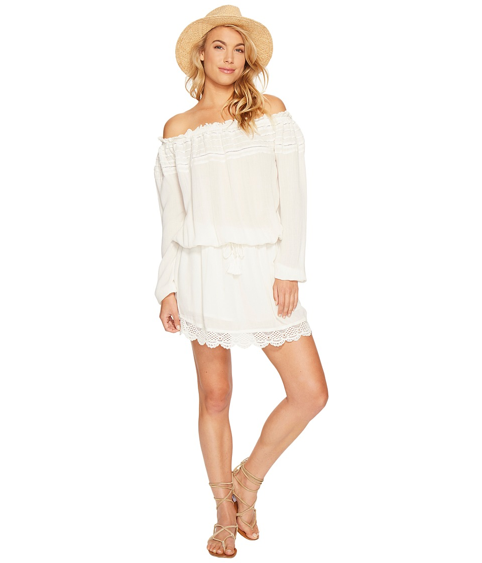 Roxy Off the Shoulder Dress (Marshmallow) Women