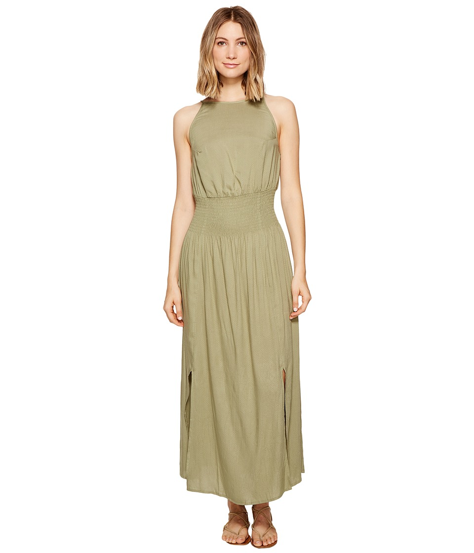 Roxy Get Sexy in Havana Maxi Dress (Oil Green) Women
